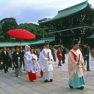 Le Japon classique de Tokyo: Tokyo: Wedding at Meiji Shrine