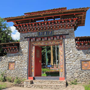 Circuit Amankora de Paro: Traditional entry gate in Bhutan