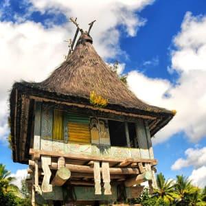 Unbekanntes Paradies Timor-Leste ab Dili: Traditional houses Timor-Leste