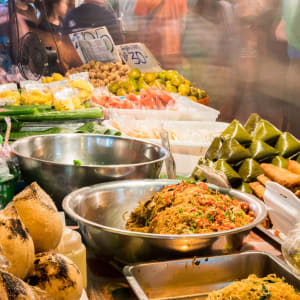 Circuit en voiture de location au sud de Bangkok: Traditional Street Food