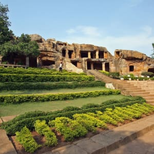 Odisha, terre des temples de Bhubaneswar: Udayagiri caves Bhubaneswar