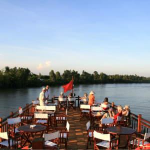 Mekong Delta Fluss-Kreuzfahrten mit «Gecko Eyes» Privatboot ab Saigon: Upper deck