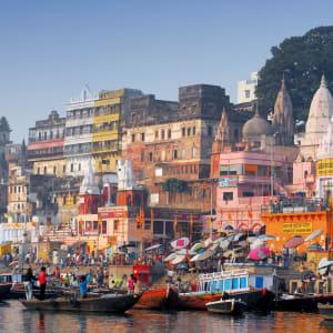 Indien für Geniesser ab Delhi: Varanasi: view from the river