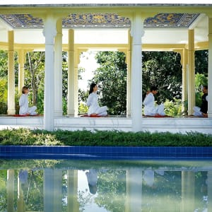 Ananda In The Himalayas in Rishikesh: Group Yoga_Music Pavillion