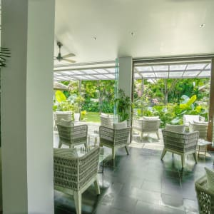 Fusion Maia Danang: Spa Reception, Garden and Pool