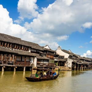 China für Geniesser mit Luxus-Kreuzfahrt auf dem Yangtze ab Peking: Wuzhen: traditional chinese town
