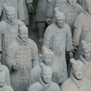 L'éclat de la Chine en train de Pékin: Xian Terracotta Warriors