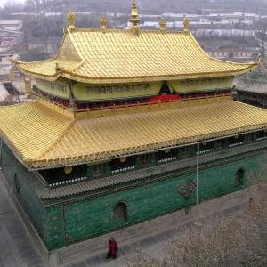 Avec le train du Tibet sur le toit du monde de Pékin: Xining: Temple