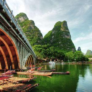 Rizières du cieletreliefs étranges de Guilin: Yangshuo: Li River