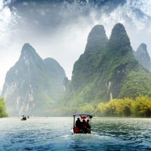 La Chine pour les fins connaisseurs avec une croisière de luxe sur le Yangtze de Pékin: Yangshuo: Yu Long river
