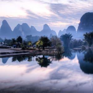 Les hauts lieux de la Chine de Pékin: Yangshuo: Yu Long river