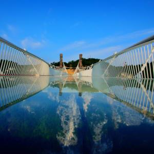 Märchenhaftes Südchina ab Shanghai: Zhangjiajie National Forest Park Glass bottom bridge