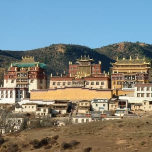 Circuit spectaculaire du Yunnan au Tibet de Kunming: Zhongdian, Ganden Sumtseling Gompa Kloster