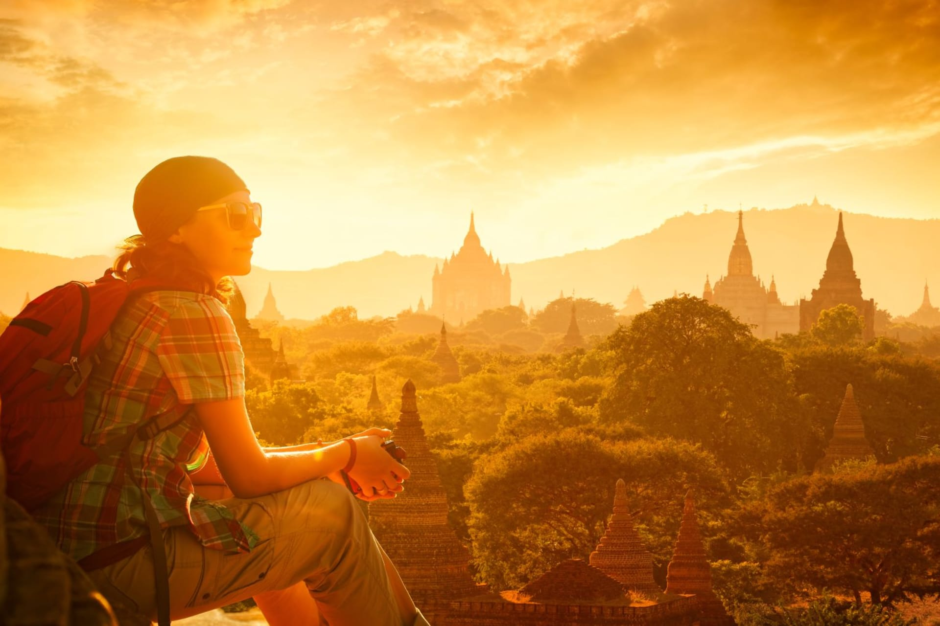 Bagan Sunset with Traveller
