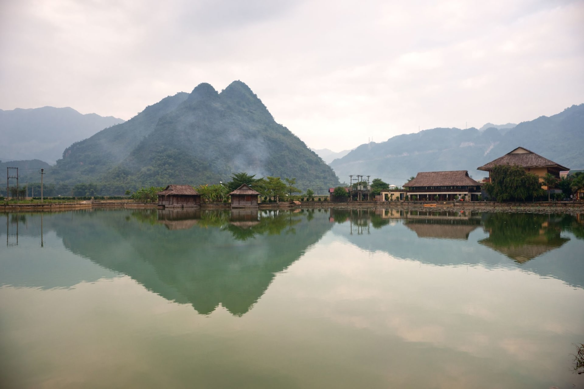 Beautiful panorama in Mai Chau Valley