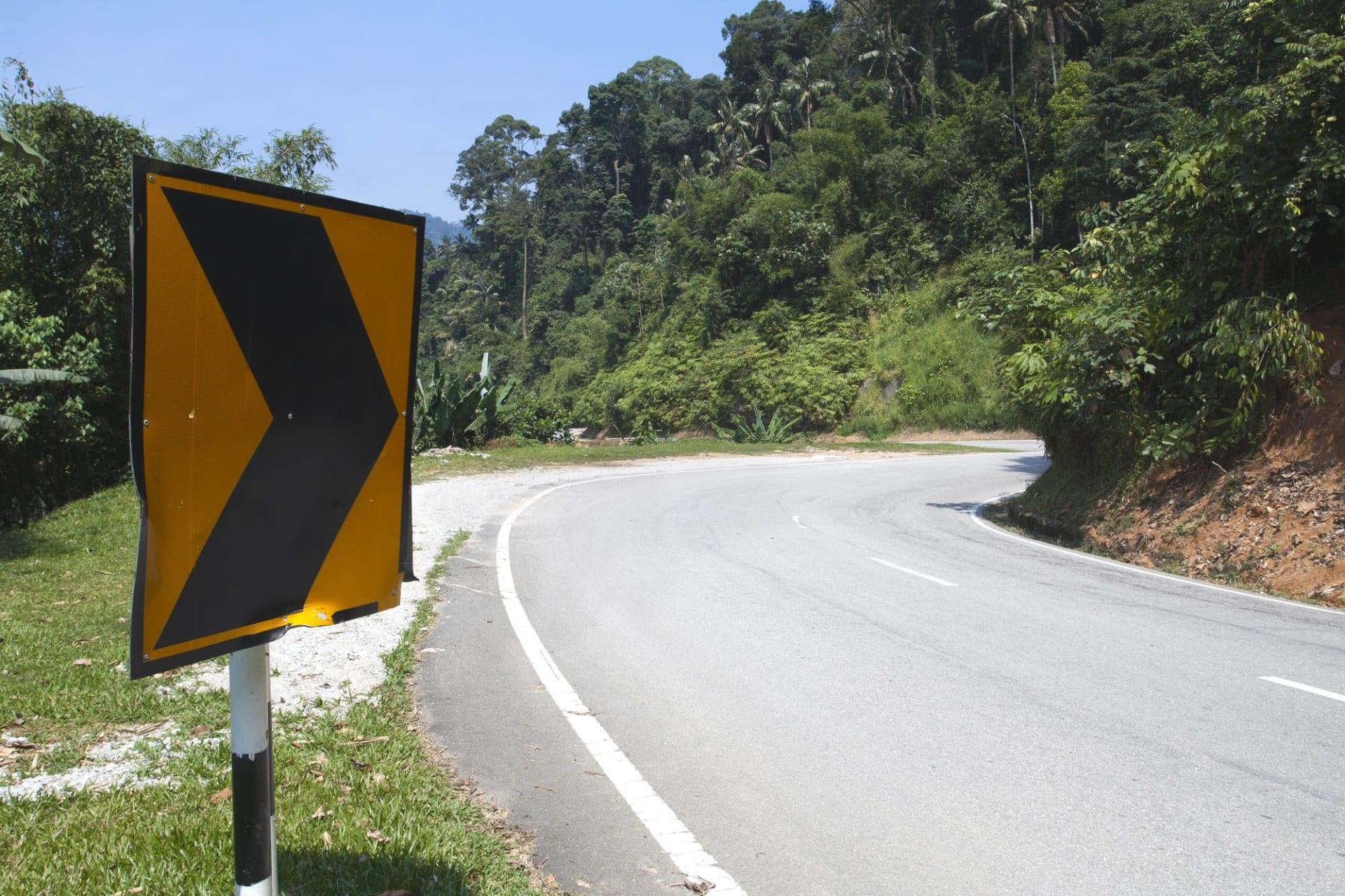 Malaysia Cameron Highlands Road Sign