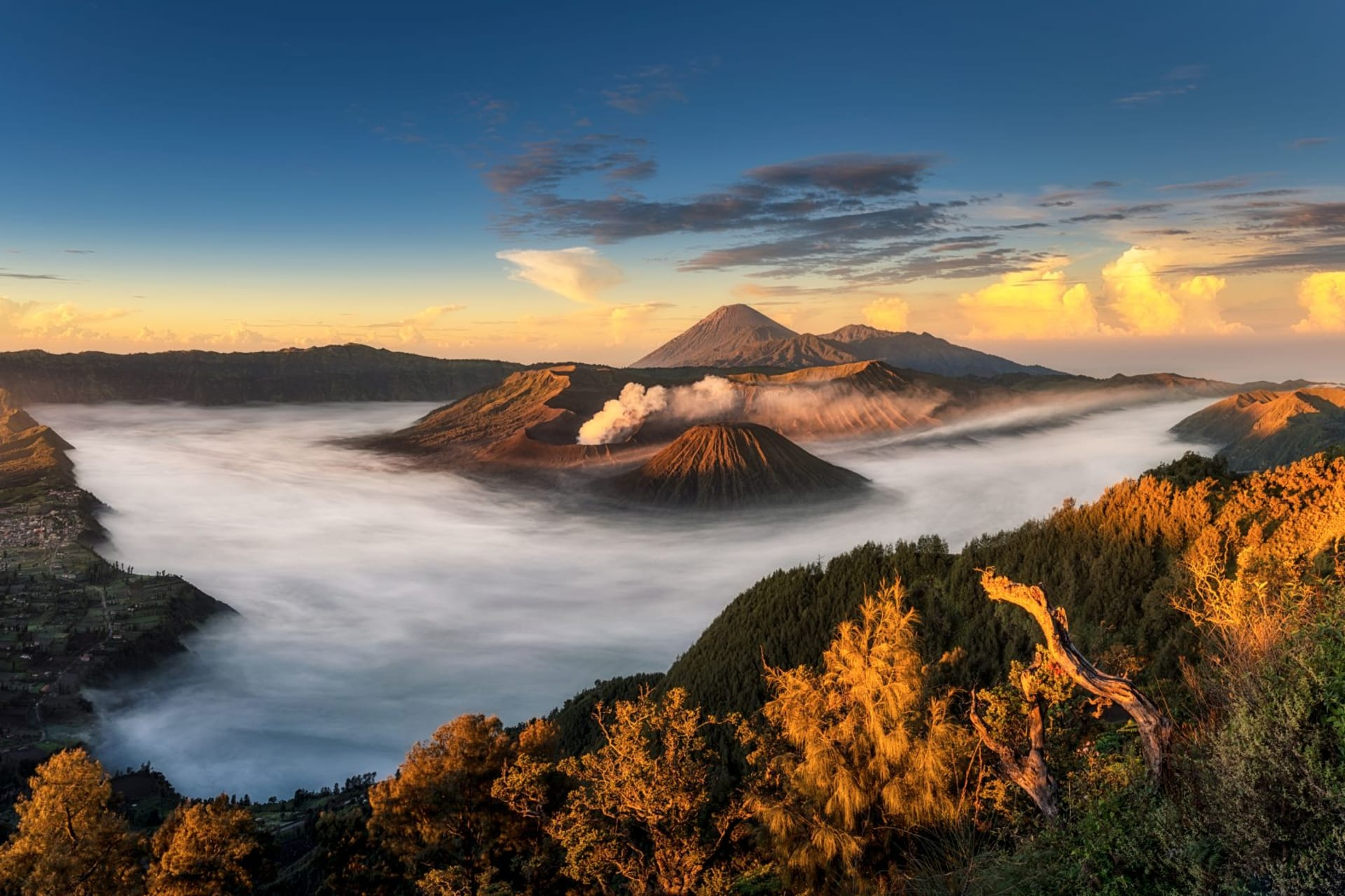 Panorama view of Mount Bromo