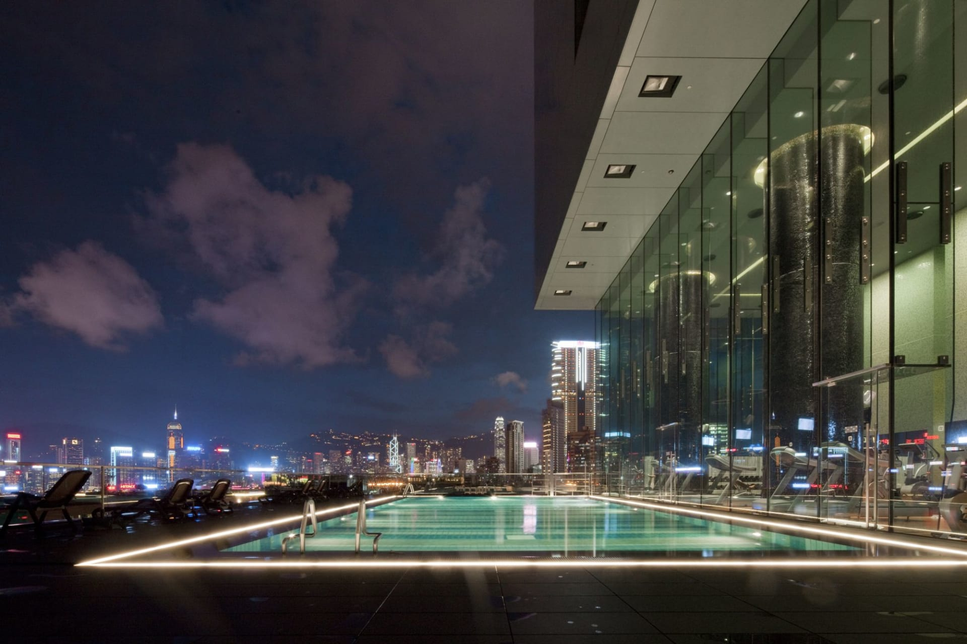 pool: Outdoor Swimming Pool   by night