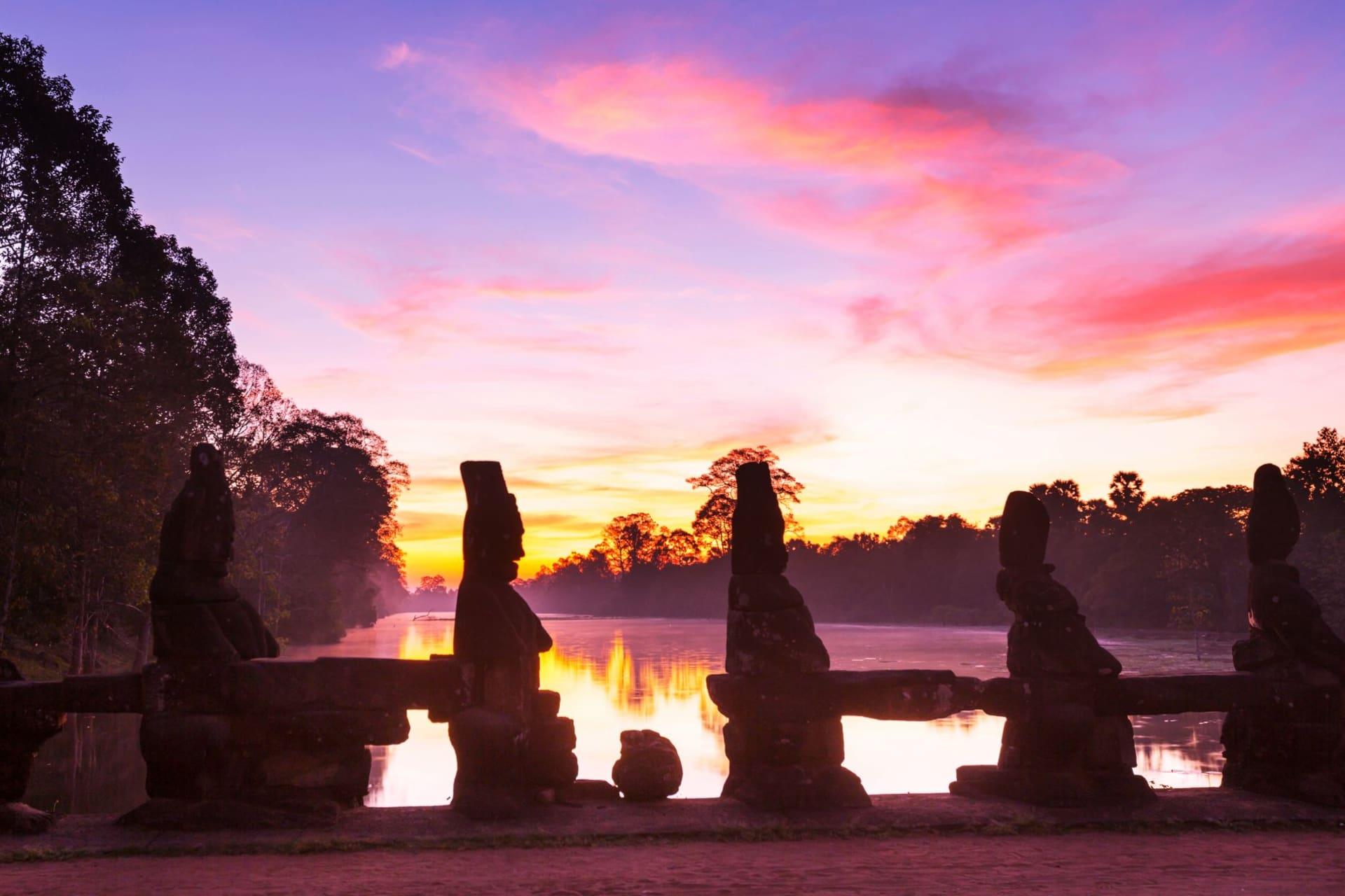 Siem Reap Angkor Thom at sunrise