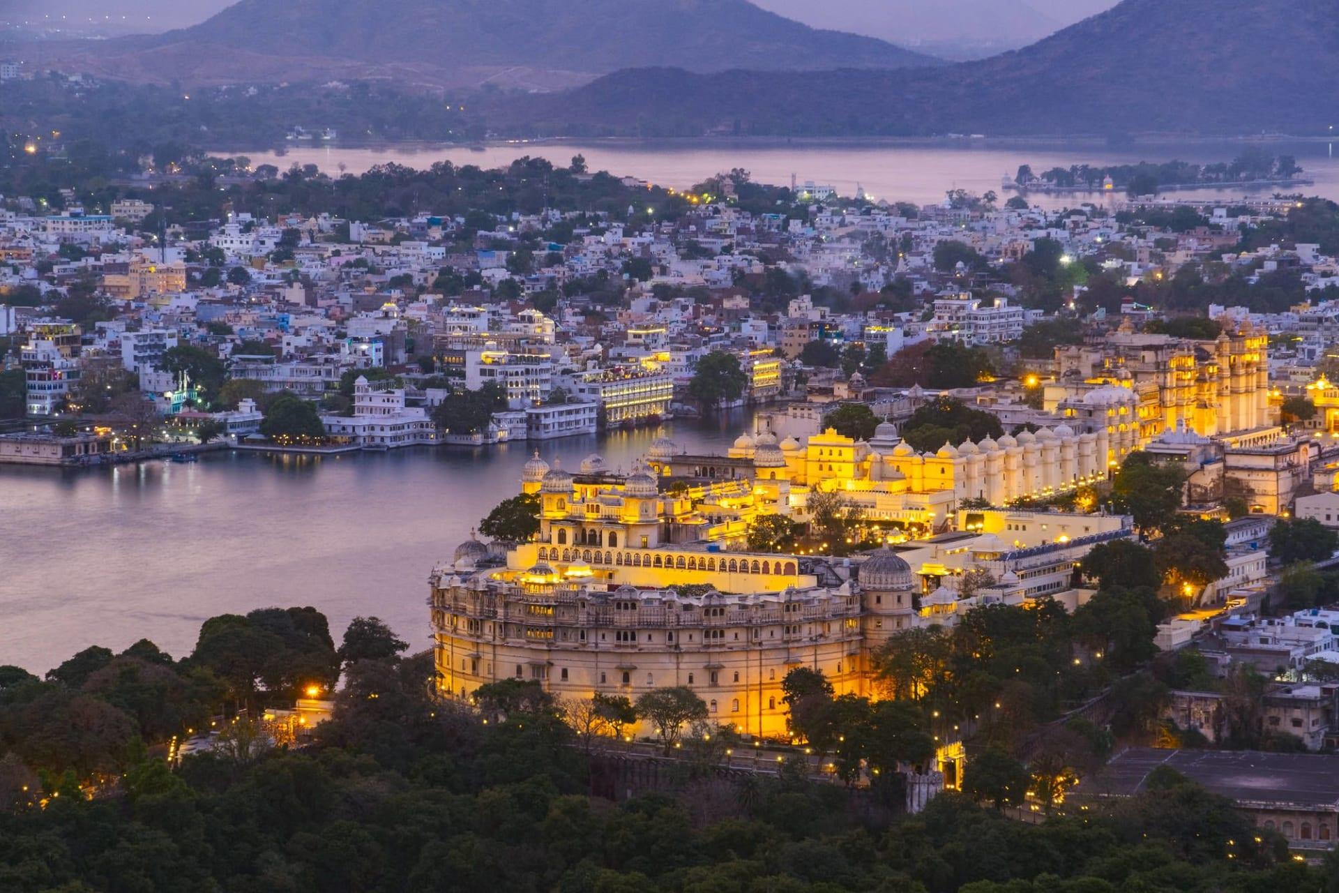 Udaipur City with Lake Pichola