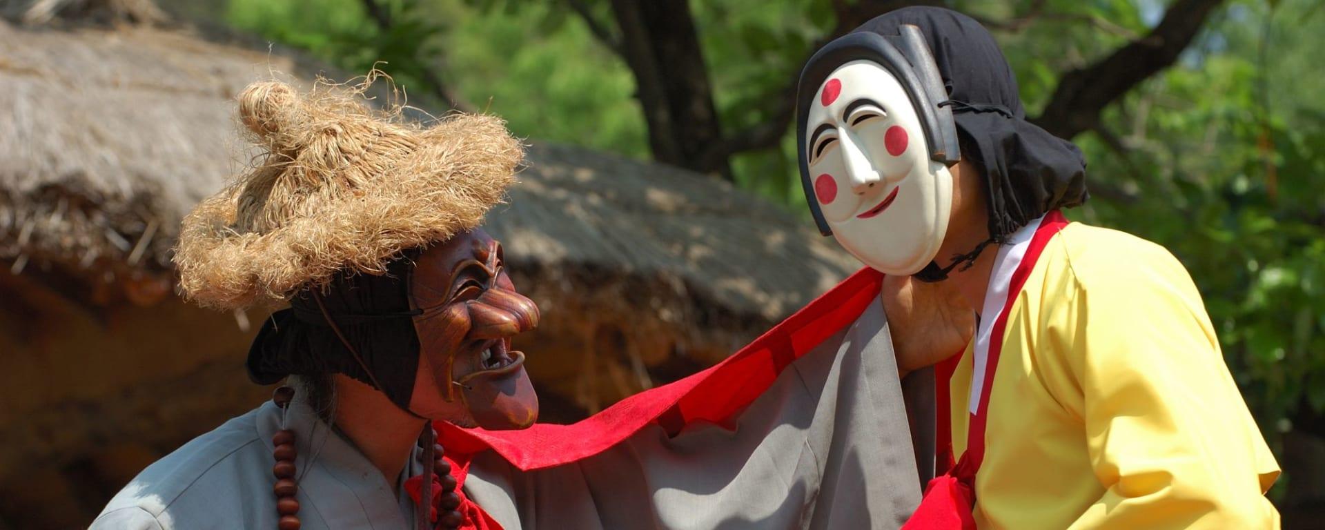 Gruppenreise «Südkorea - Land der Morgenstille» ab Seoul: Andong: Mask dance