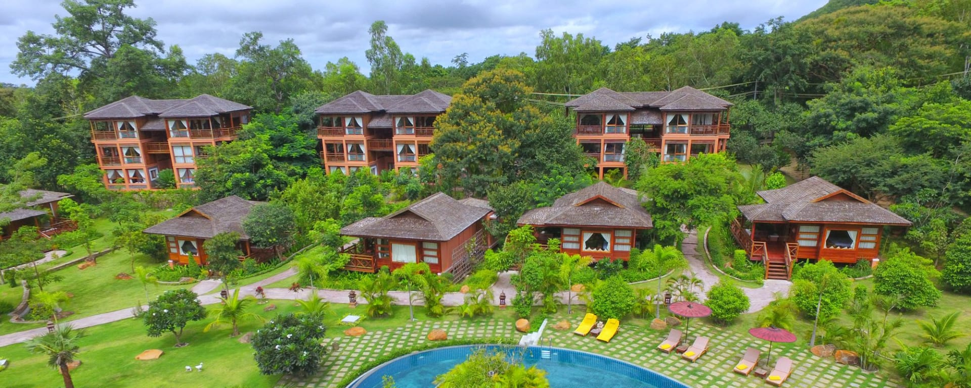 Popa Garden Resort à Bagan: Aerial View