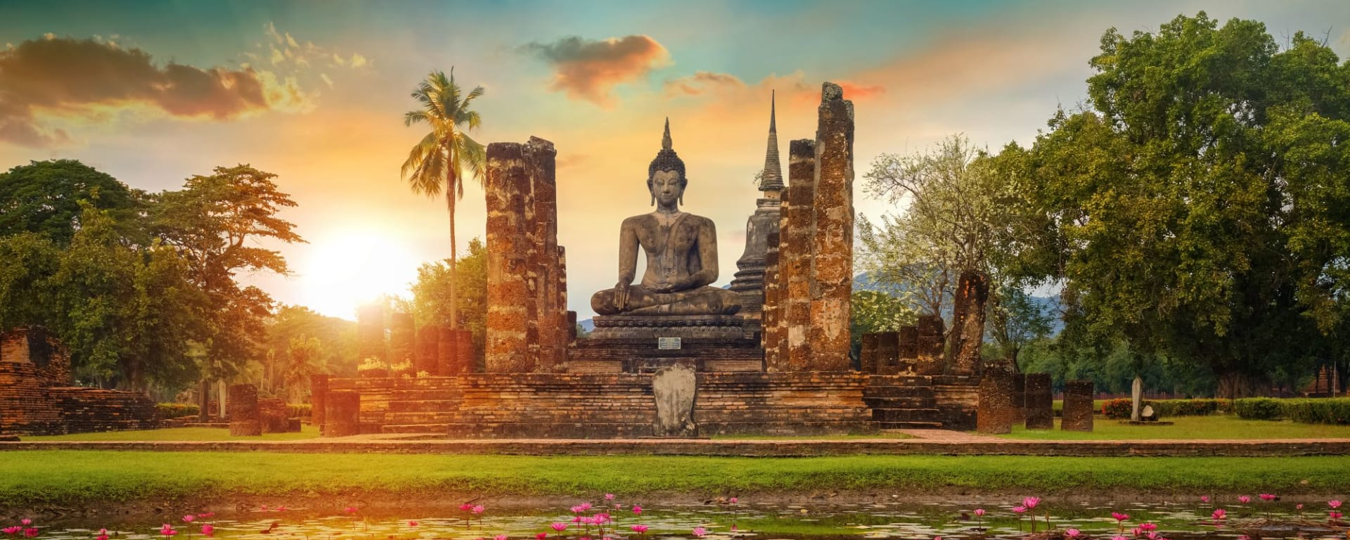 Glanzlichter Thailands ab Bangkok: Sukhothai Wat Mahathat Temple
