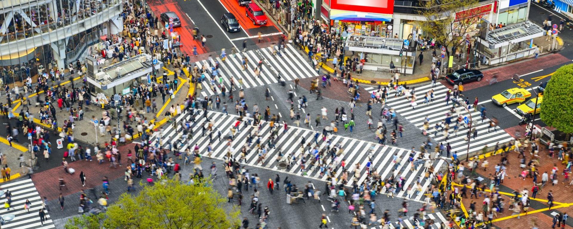Höhepunkte Japans ab Tokio: Shibuya, Tokyo, Japan at Shibuya Crossing