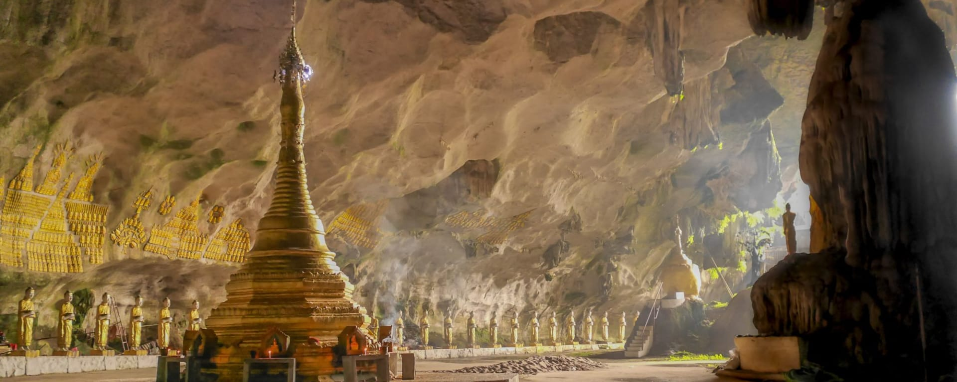 Fascination du sud du Myanmar de Yangon: Saddar Cave at Hpa-An