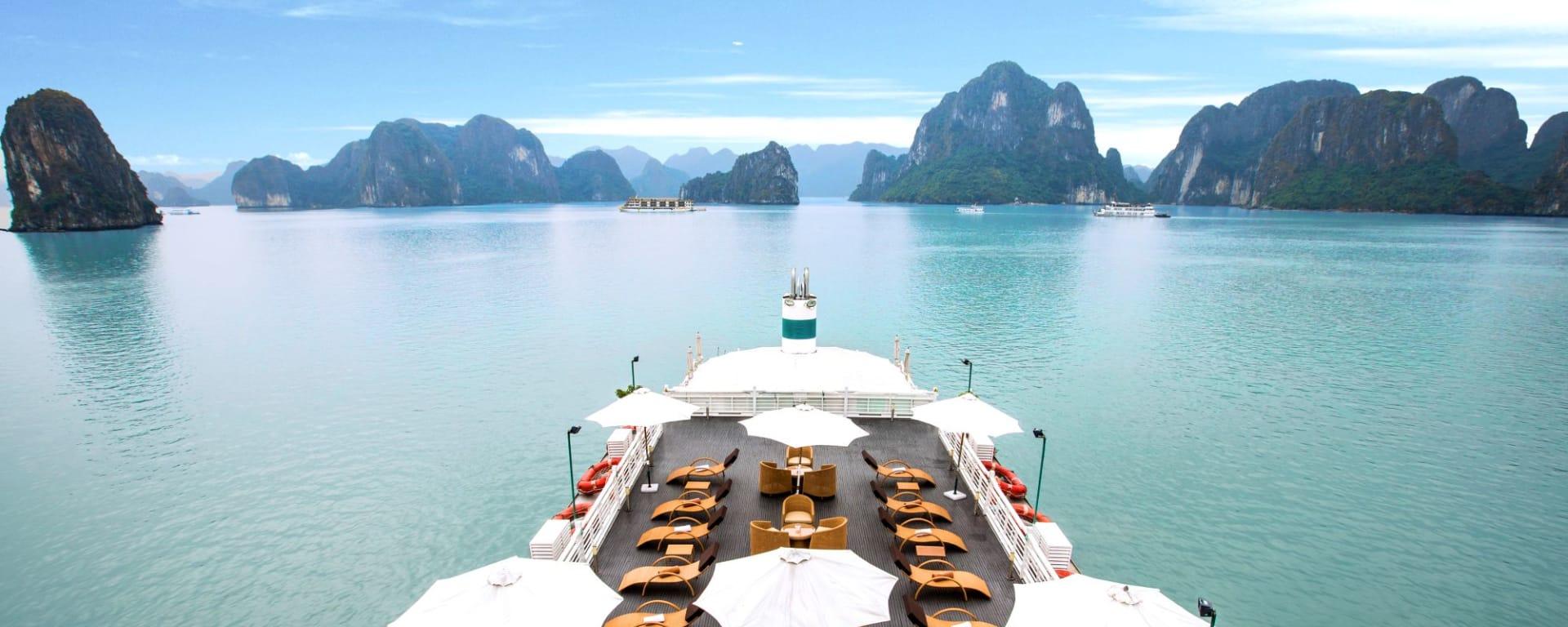 Croisières dans la baie de Halong avec «The Au Co» de Hanoi: Sundeck - 2