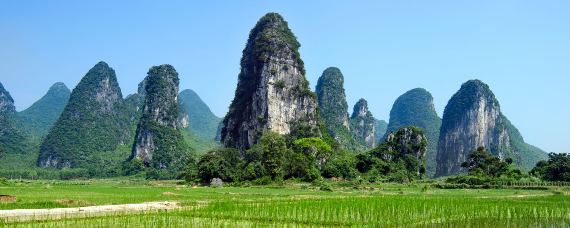 China für Geniesser mit Luxus-Kreuzfahrt auf dem Yangtze ab Peking: Yangshuo stunning countryside