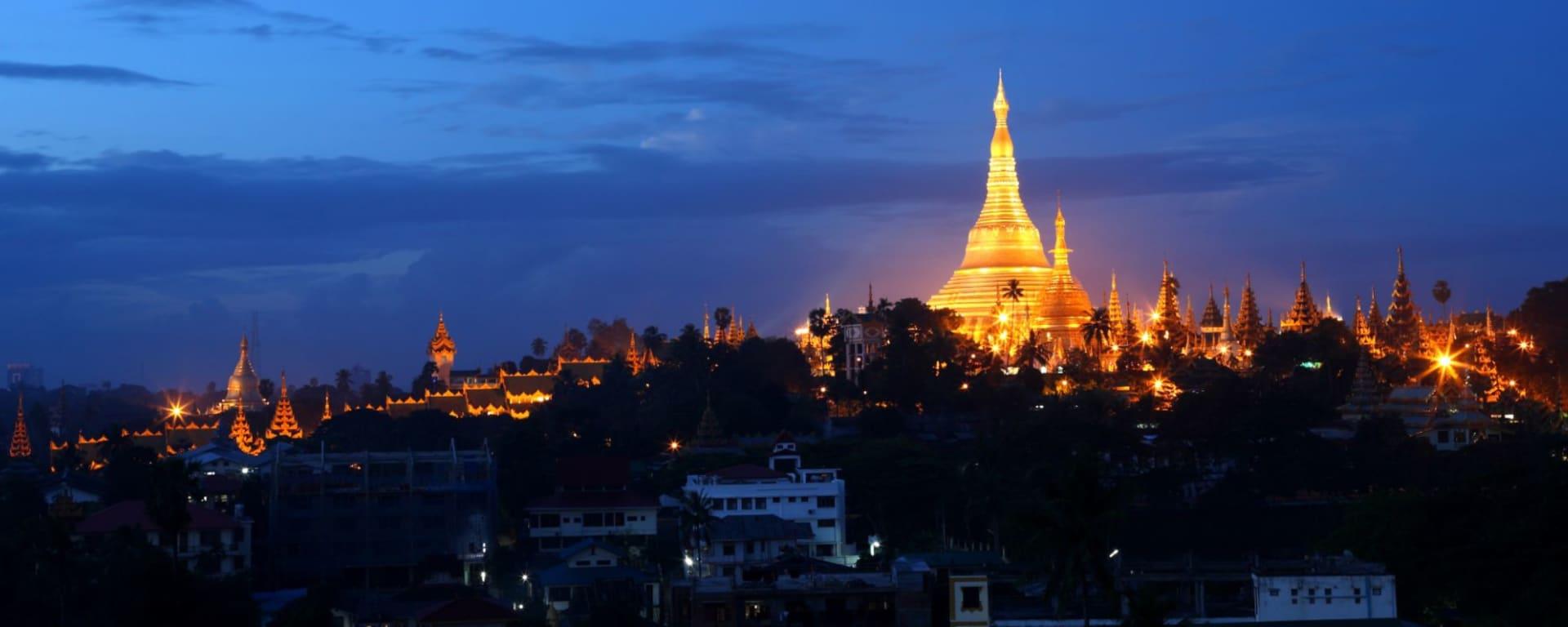 Wissenswertes zu Myanmar Reisen und Ferien: Shwedagon Pagoda Yangon