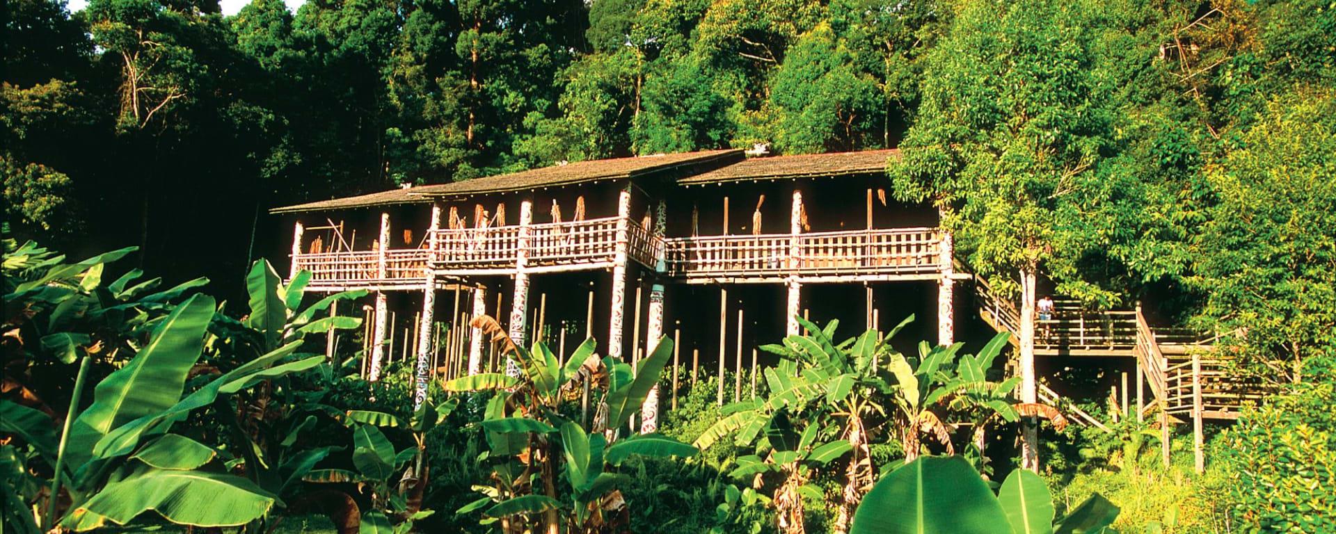 Les hauts lieux de Bornéo option longhouse de Kuching: Traditional Longhouse