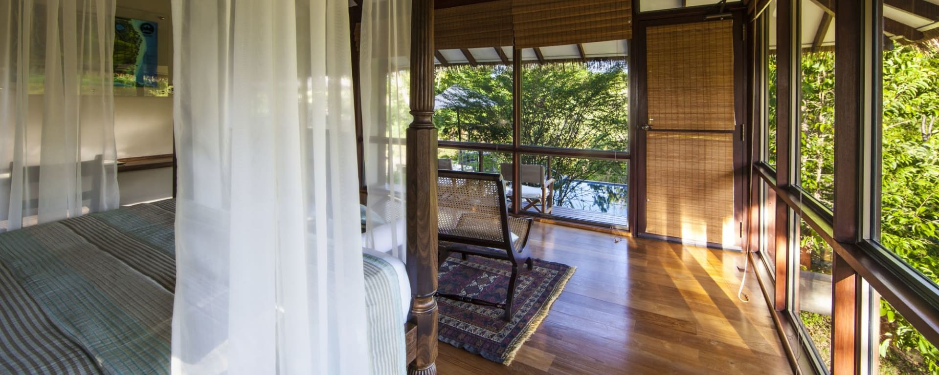 Ulagalla by Uga Escapes in Anuradhapura: Ulagalla Chalet | Master Bedroom with Pool view