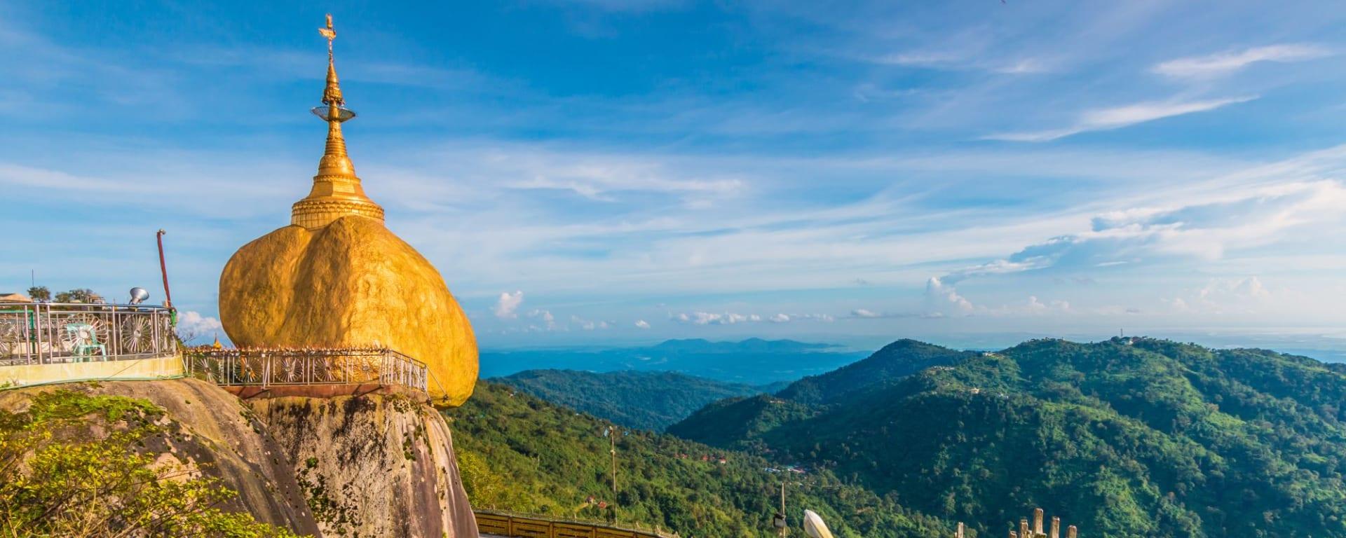 Voyage au Rocher d'Or  (traversée de Bangkok à Yangon): Golden Rock