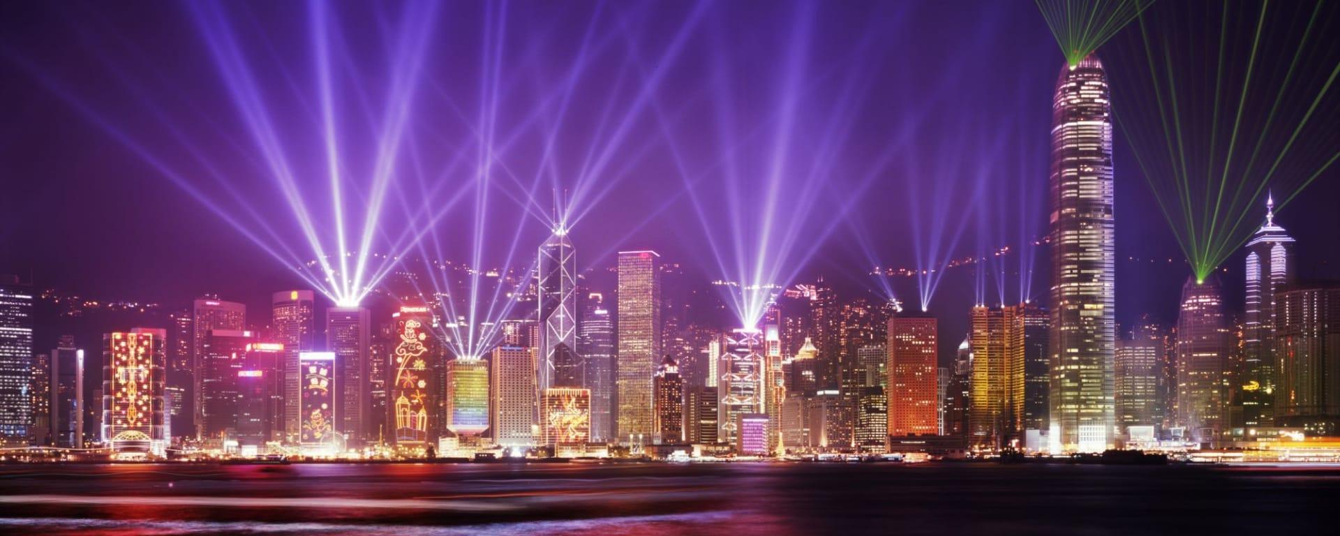 Symphony of Lights - tour du port à Hong Kong: Hong Kong Firework