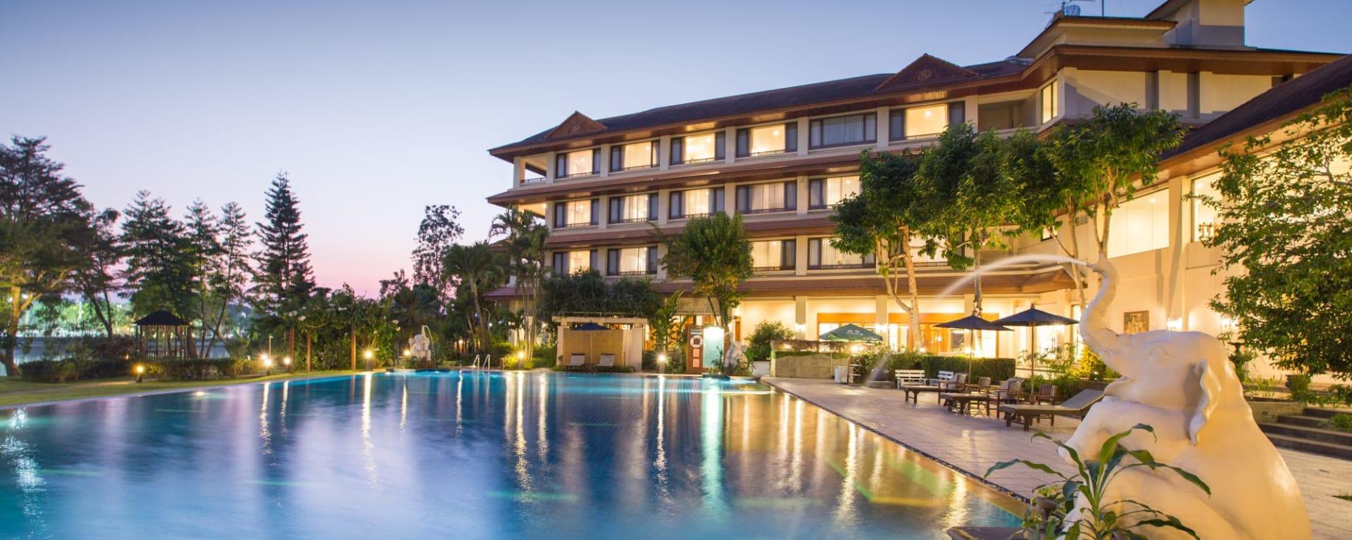 Imperial River House à Chiang Rai: Evening Mood