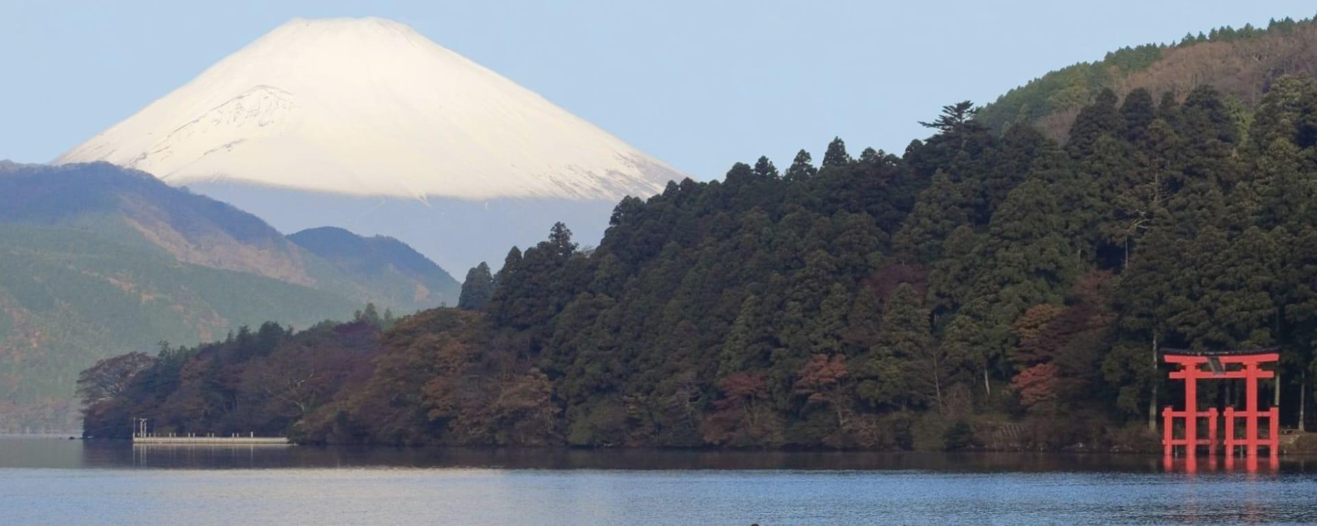 Le Japon classique de Tokyo: Mt. Fuji: with lake