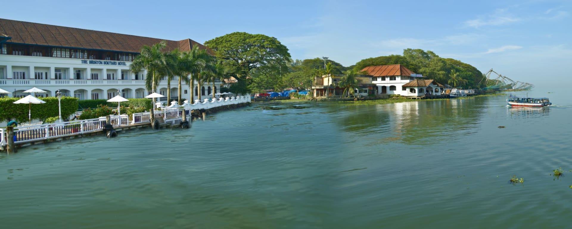 Brunton Boatyard in Kochi: Exterior view