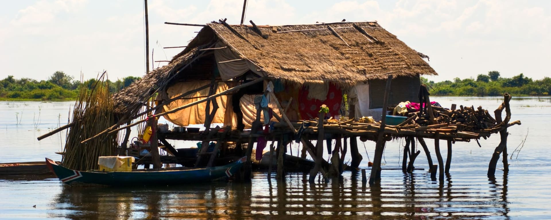 Battambang & Banteay Chhmar im Luxuszelt ab Siem Reap: Tonle Sap local house