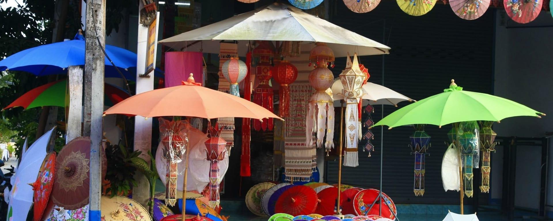 Chiang Mai City mit Doi Suthep: Chiang Mai Umbrella Shop