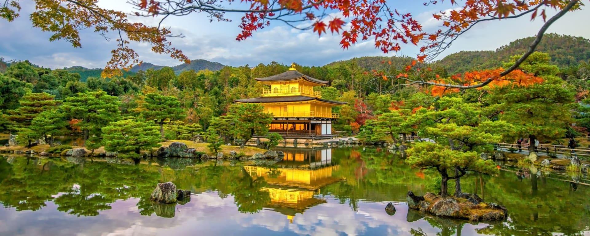 Wissenswertes zu Japan Reisen und Ferien: Kyoto Golden Pavilion of Kinkaku-ji temple