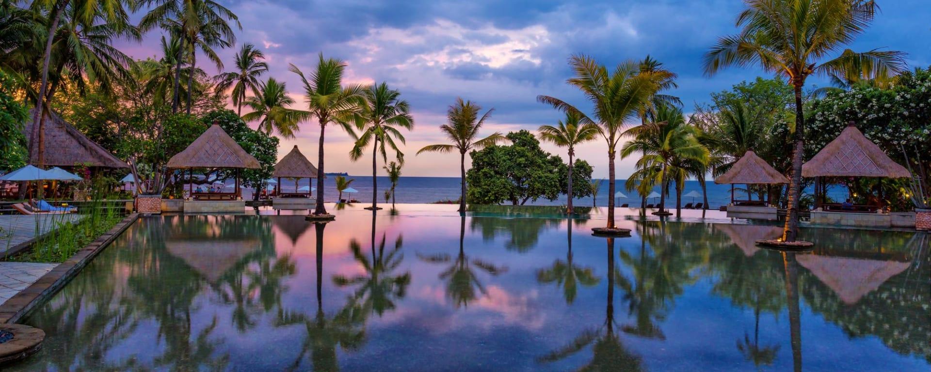 The Oberoi Beach Resort, Lombok: Infinity pool sunset
