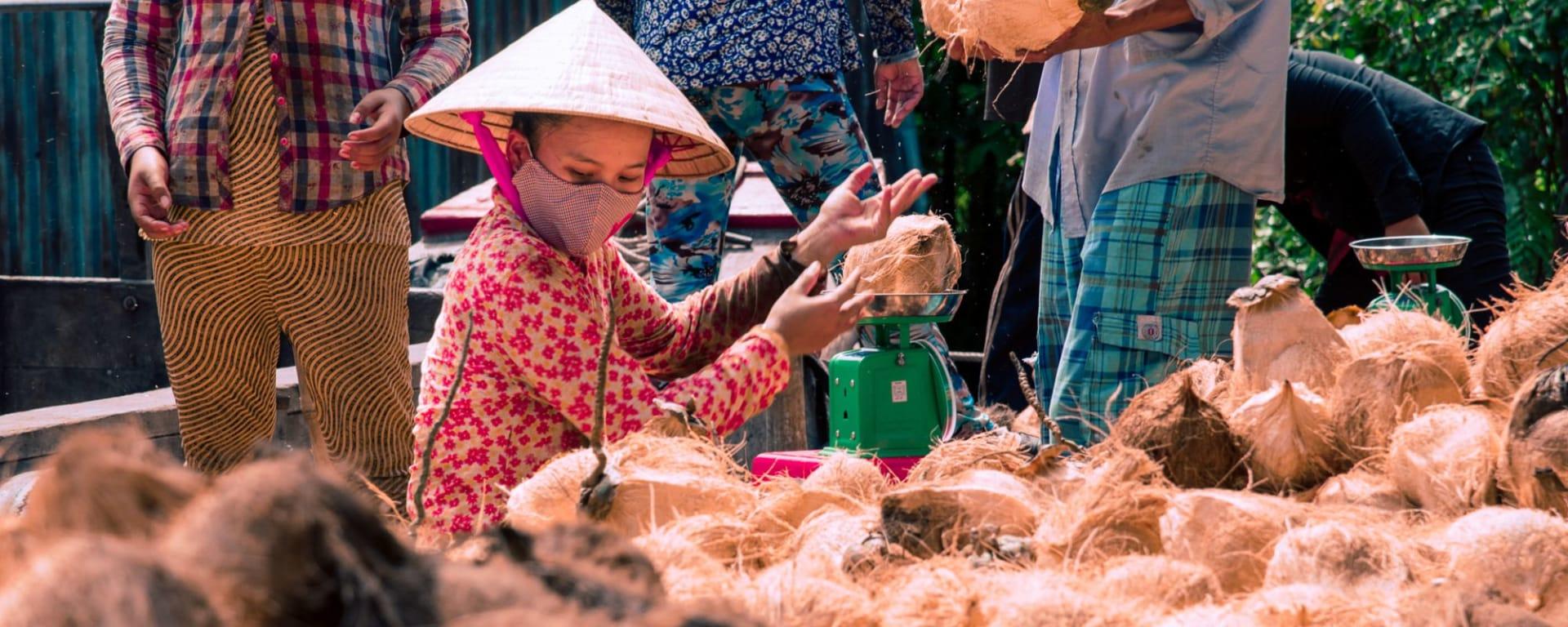 Mekong Delta mit Mango Cruise in Saigon: Mekong Delta coconut farm