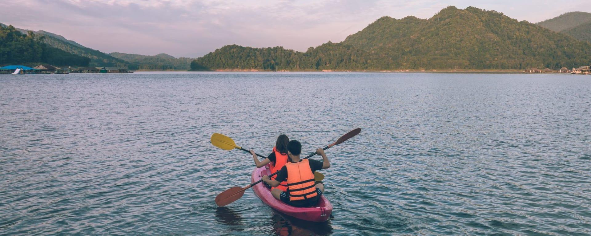 Nature & éléphants dans le nord de la Thaïlande de Chiang Mai: Northern Thailand Mae Ngat Dam Kayaking