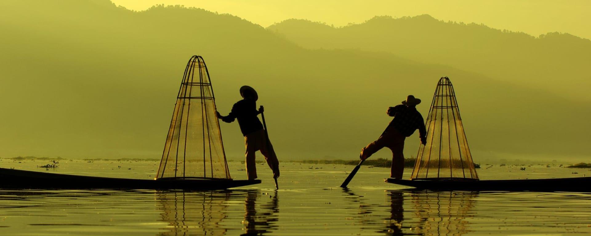Myanmar - Land der Tempel und Pagoden ab Mandalay: Inle Lake fisherman