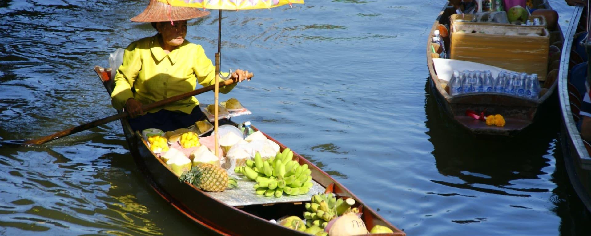 «Railway Market», marché flottant & vie villageoise à Bangkok: Damnoen Saduak Floating Market