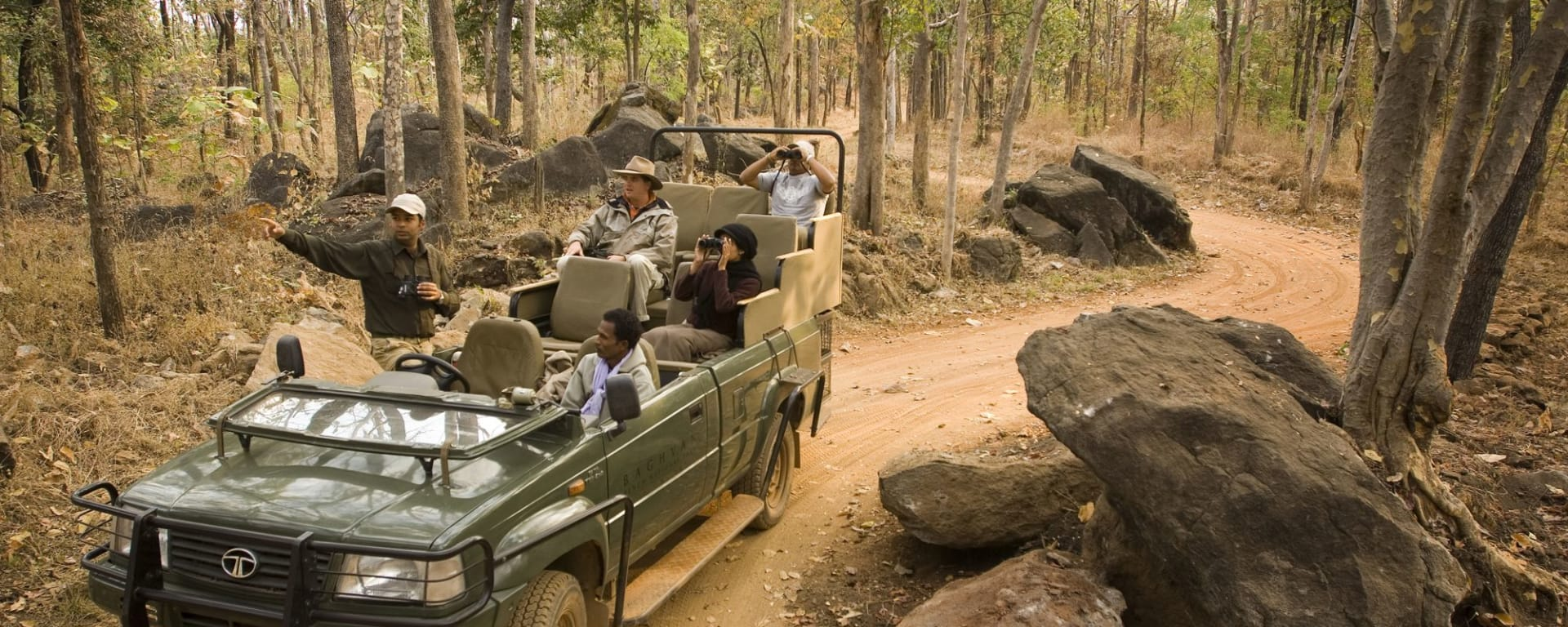 Baghvan Lodge à Pench: Safari Jeep 4x4