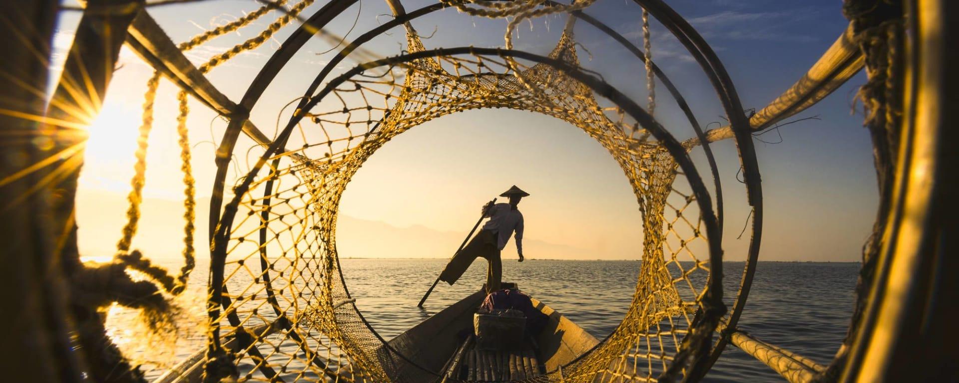 Mythes et légendes du Myanmar de Yangon: Inle Lake fisherman