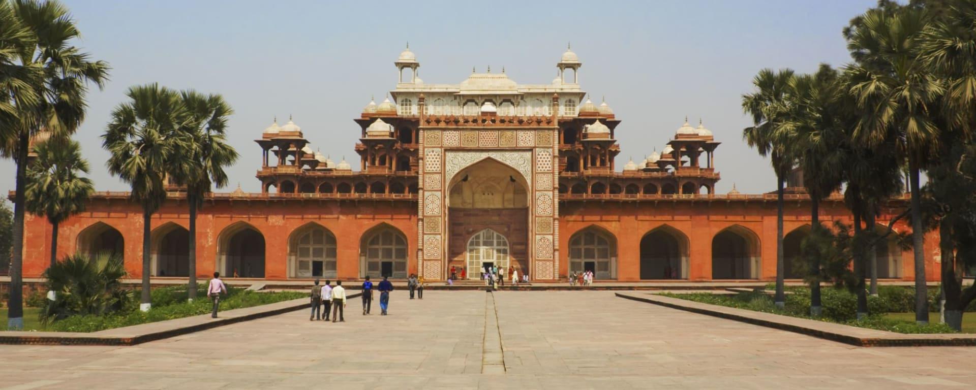 Höhepunkte Rajasthans ab Delhi: Sikandra: Akbar's Tomb